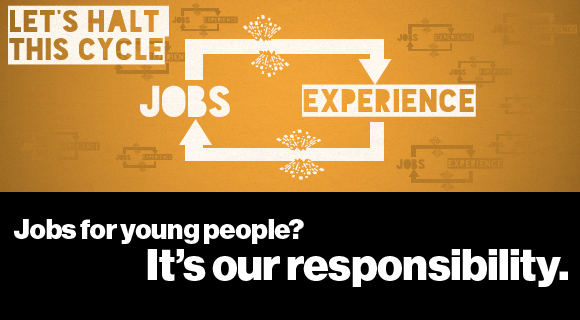 Jobs for young people? It's our responsibility graphic
