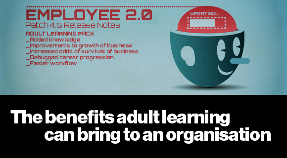 Graphic of the 'employee 2.0' - the benefits of adult learning