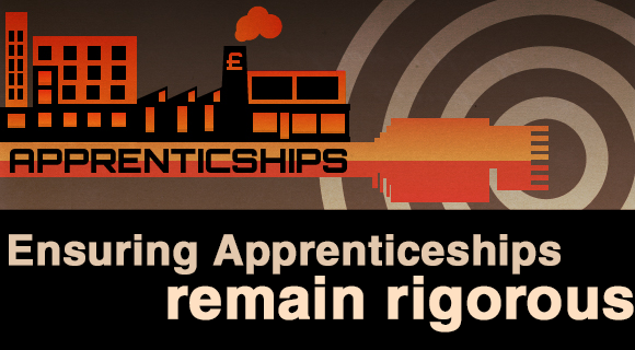 Ensuring apprenticeships remain rigorous graphic