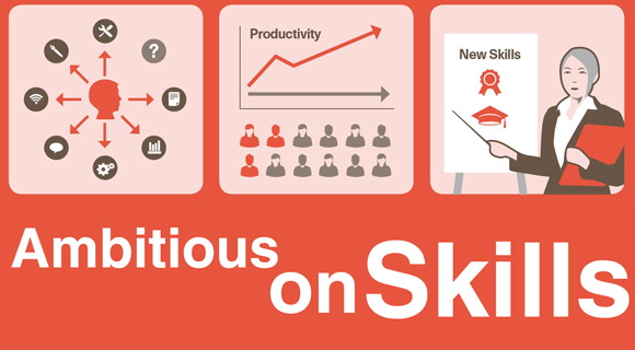 Ambitious on Skills graphic