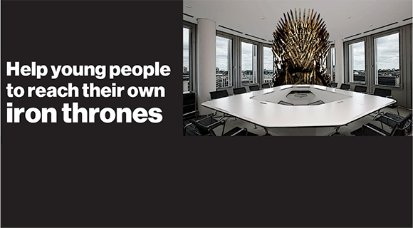 Help young people to reach their own iron thrones image