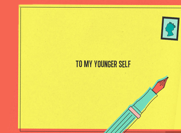 To my younger self graphic