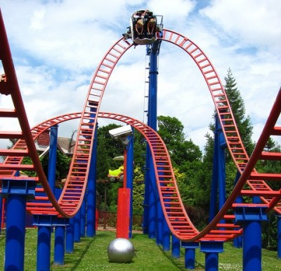Rollercoaster at Alton Towers