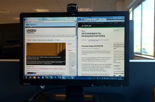 Image showing screen with the old and new UKCES blogs